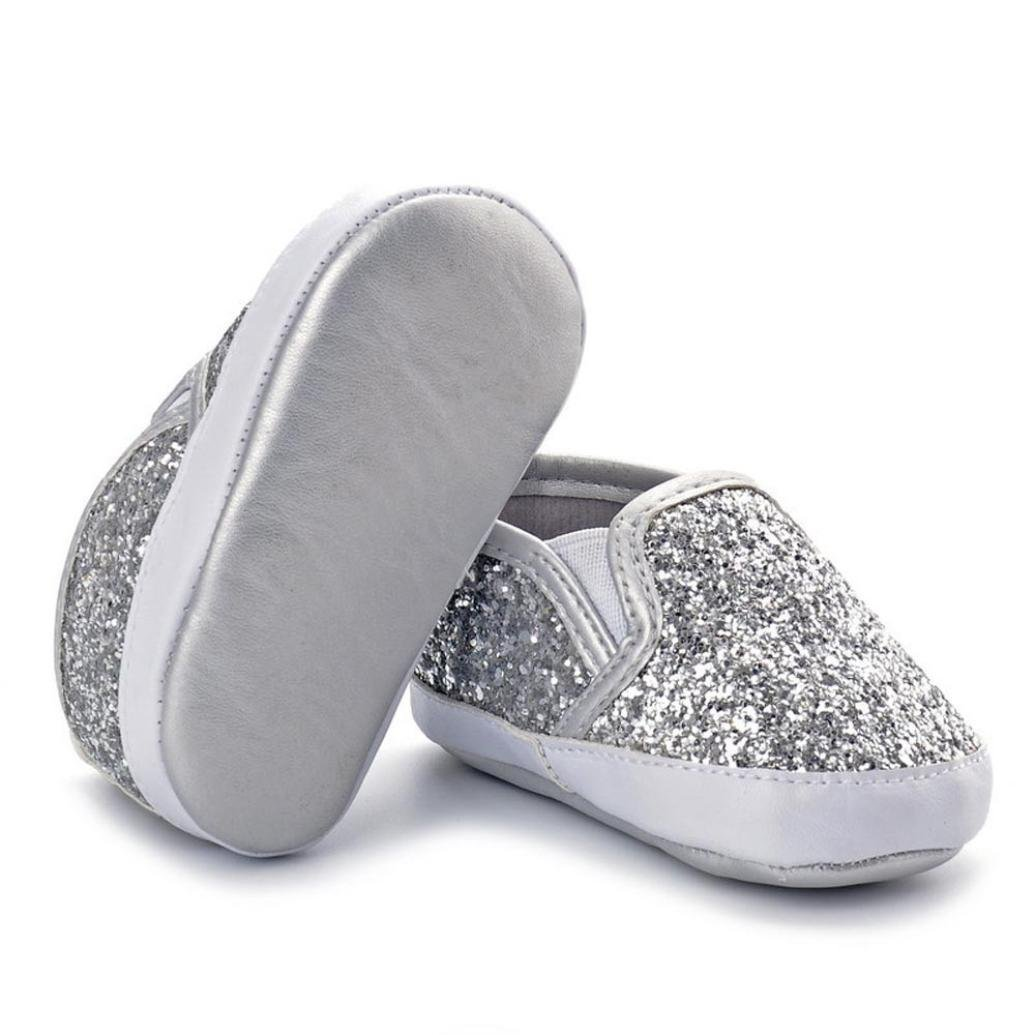 b54485d2ff568 Lanhui Newborn Girls Boys Crib Shoes Soft Sole Anti-Slip Baby Sneakers  Sequins