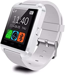 Bluetooth Smart Watch - DUIWOIM Touch Screen Smartwatch Smart Wrist Watch Phone Fitness Tracker with SIM TF Card Slot Camera Pedometer for iOS iPhone Android Samsung LG Women Men Kids (U8-W)