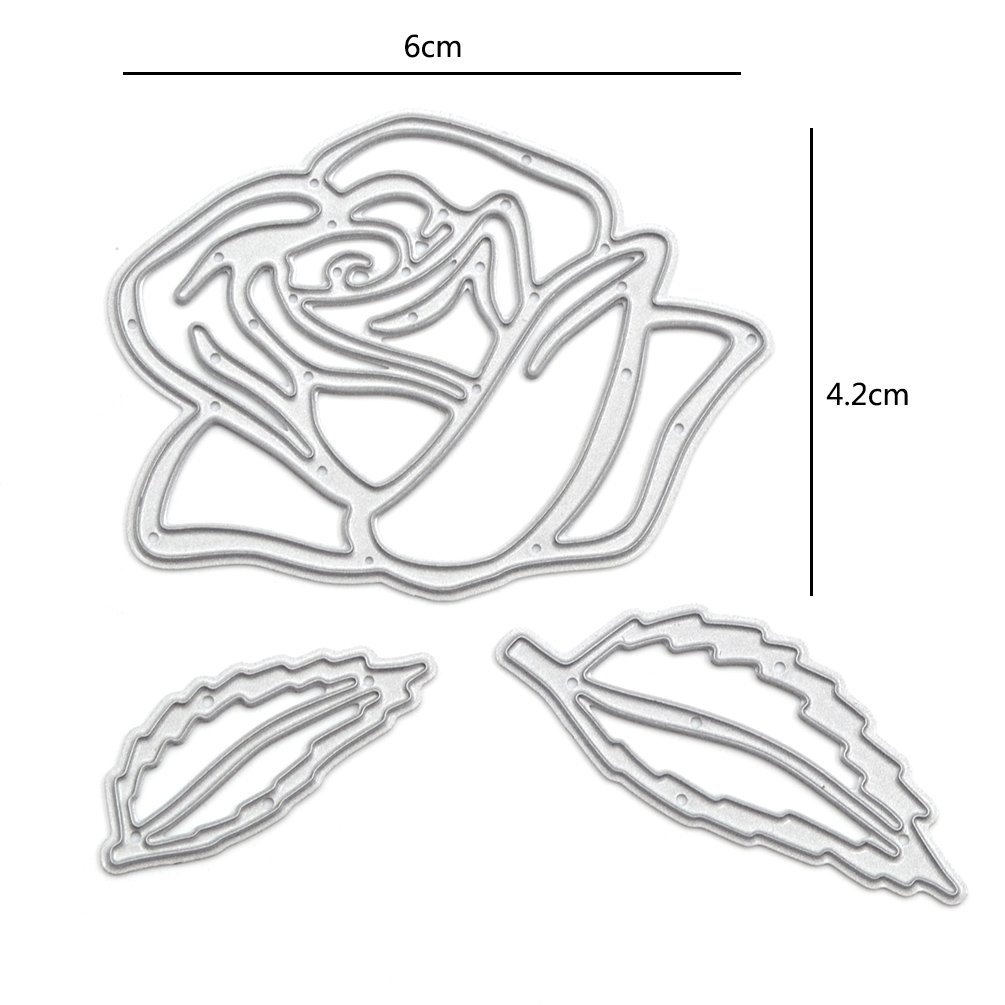 Amazon.com: We-buys Rose Cutting Dies Stencil Metal Template for DIY ...
