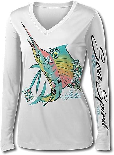 Jason Mathias - Camisa de Pesca para Mujer, diseño de pez ...