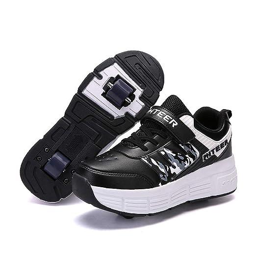 Kinder Laufschuhe Schuhe Schuhe Homesave Mädchen Skateboardschuhe Skateboard mit Sportschuhe Rollen Rollen Jungen mit LED Schuhe Roller Skate Sneakers cuT53l1FKJ