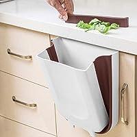 KINLO Kosz na śmieci do kuchni, składany, do zawieszenia, tworzywo sztuczne (PP), nie zawiera BPA, 10 litrów, duża…