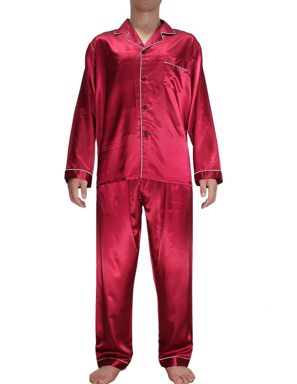2PCS SET Silk Couture Mens Luxurious Silk Pajamas Set includes Top & Pants