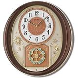 Seiko Plastic Wall Clock (Metallic Brown)