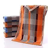 MAZIMARK--Luxury Towel 100% Cotton Large Check Hand Bath Bathroom Towel Remarkable