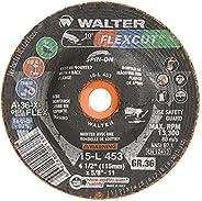 Walter 15L453 FLEXCUT Flexible Grinding Wheel [Pack of 25] - A-36-X-FLEX Grit, 4-1/2 in. Abrasive Wheel with A