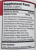 100 Naturals Super Resveratrol 1200mg with PomegranateGreen Tea Quercetin Grape Seed Extract Acai Lactobacillus Acidophilus Discount