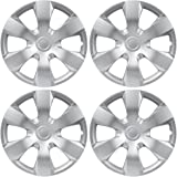 """BDK Toyota Camry Style Hubcaps Cover, 16"""" Inch Silver Replica Wheel Hub Cap Covers, OEM Factory Replacement (4 Pieces Set)"""