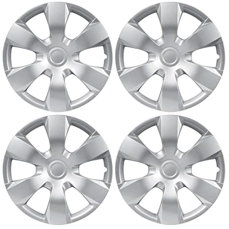 BDK KT-1000- King1 Silver Hub Caps (Wheel Covers) for Toyota Camry