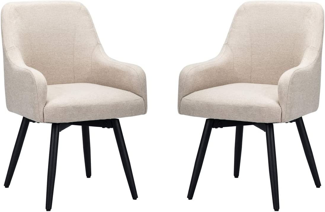 Amazon Com Mordern Accent Chairs For Living Room Chairs For Dining Room Accent Swivel Chair For Bedroom Arm Chair Set Of 2 Kitchen Dining