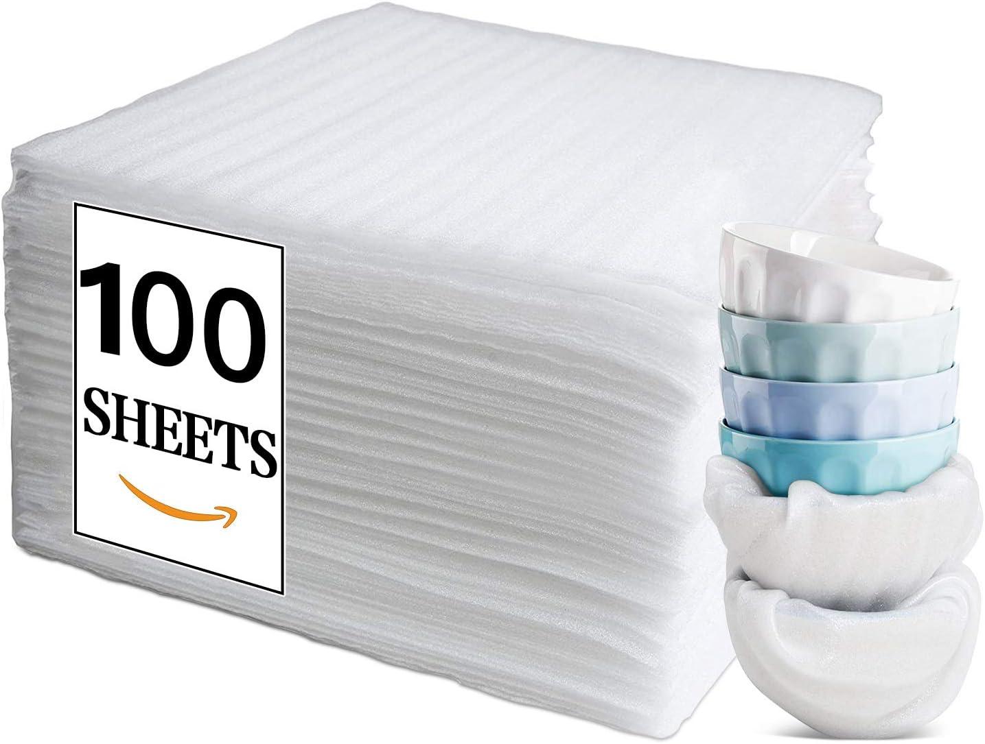 100 unidades, 320 x 320 x 1,5 mm L/ámina de espuma para embalar