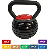 【10-40LBS】 Kettlebell Weights Sets,Adjustable Kettle Bells Weight Set for Men Or Women Strength Training Exercise,15 lb 20 lb 30 lb 35 lbs Kettlebells, Great Assistant for Home Office Fitness.