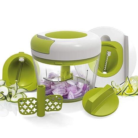 L.SMX Food Chopper 3 Cuchillas Blender Cutter Vegetable Julienne ...