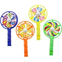 NUOBESTY Whistle Windmill Durable Creative Colored Practical Whistle Toy Birthday Favors for Toddler Kids Children 12pcs…