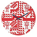 Deny Designs Vy La, Robots and Triangles, Round Clock, Round, 12''
