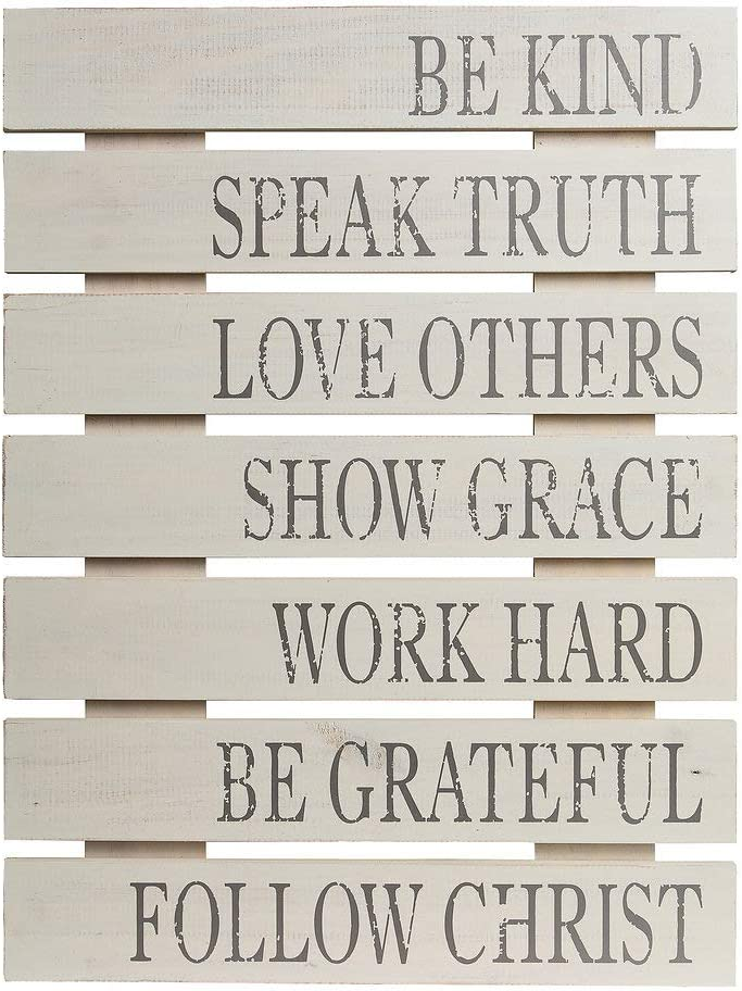 Be Kind Rustic Wood Pallet Wall Art Décor