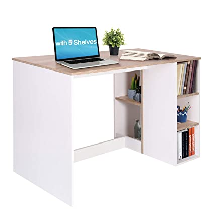 Brilliant Amazon Com Writing Computer Desk With Storage Large Interior Design Ideas Tzicisoteloinfo