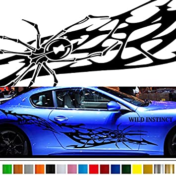 Amazoncom Spider Tribal Car Car Vinyl Side Graphics Sticker Wa - Custom vinyl graphics for cars