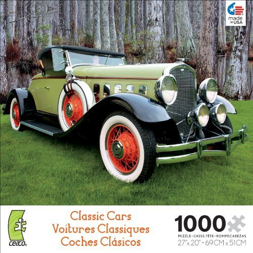 Ceaco Classic Cars Two Tone Jigsaw Puzzle by Ceaco