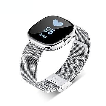 Smart Pulsera C2 Smart Bluetooth Watch Ritmo Cardíaco Presión Arterial Pasos Deportes Pulsera Impermeable,Silver