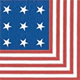 Fourth of July Napkins Paper Cocktail Napkins Star Spangled Pk 40
