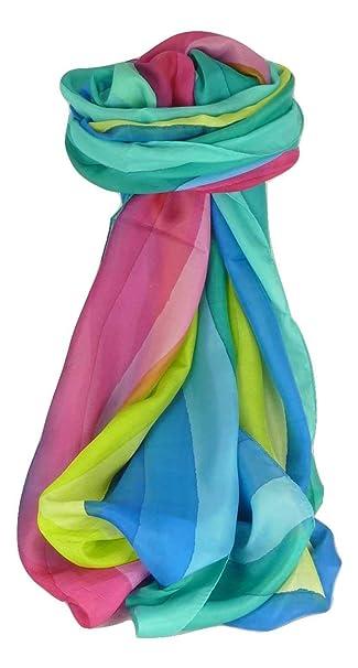 c9c2ce22 Mulberry Silk Classic Long Scarf Kishori Rainbow Palette by Pashmina ...