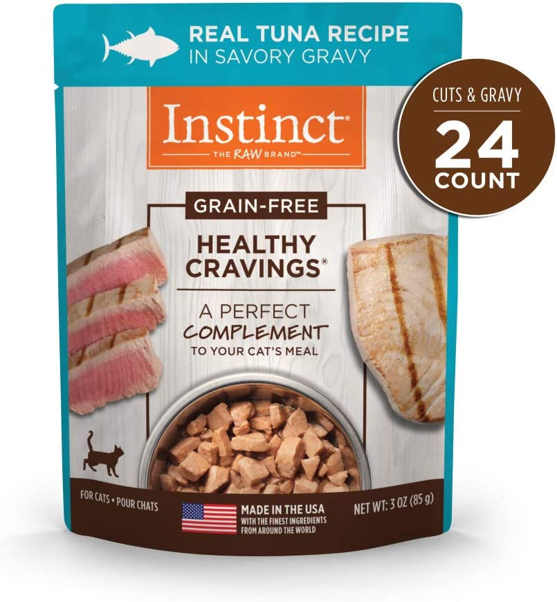 Instinct Grain Free Wet Cat Food Topper, Healthy Cravings with Gravy Cat Food Pouches