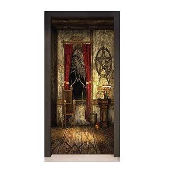 Amazoncom Homesonne Gothic 3d Door Wallpaper Ancient