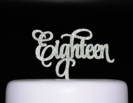 Amazon.com: qttier eighteen- Happy 18th cumpleaños ...