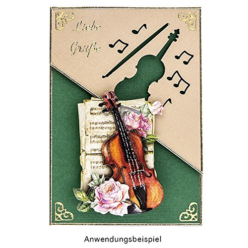 /Extra large 6,7x7,4/cm Classical Music Violin Jumbo craft punch Violin Classic Photo Punch For Paper Gift Tag /& Card Making Scrapbooking Album/