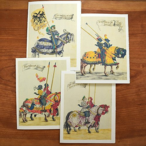 Renaissance Note Cards with Knights in Armor, Set of 12 Cards and Envelopes