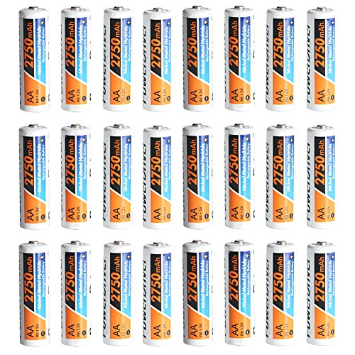 PowerDriver NiMH NI-MH AA Rechargeable Batteries, 2750 mAh,