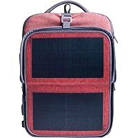 Hanergy 9-watt Solar-Powered Backpack with 2 USB Charging Port (Pink)