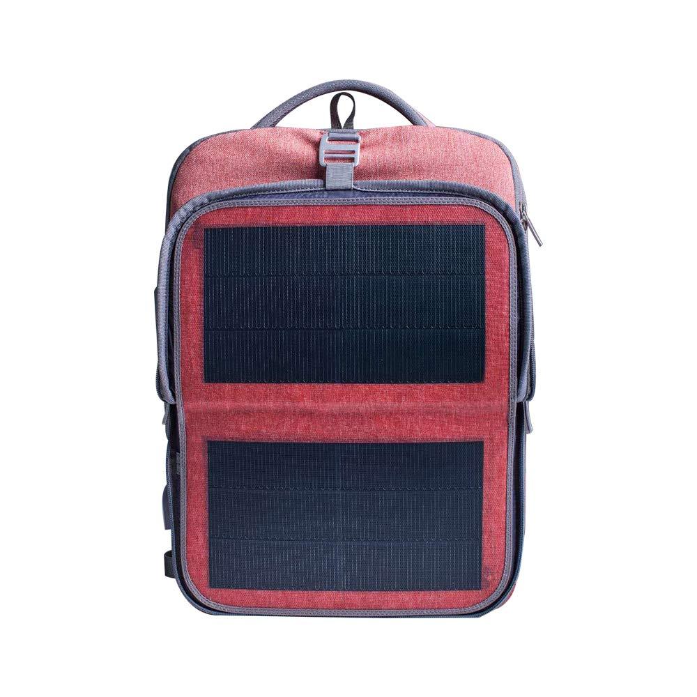 HANERGY Solar Powered Backpack Off-Grid 9W Thin Film Flexible Hindden Solar Panel Business Laptop Tablets Backpacks College School Bookbag Travel Messenger Bag (Pink) - with 2 USB Charging Port B07JLZV2PH