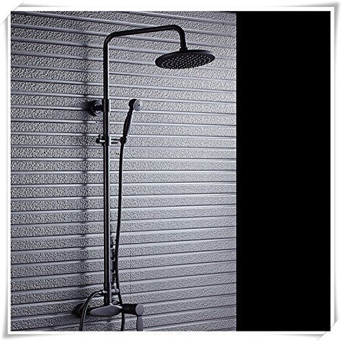 Of The Constant Temperature Faucet Shower Fully European Black Copper Shower Glass Shower with Hand Shower Shower Faucet Retro Hot-Rolled