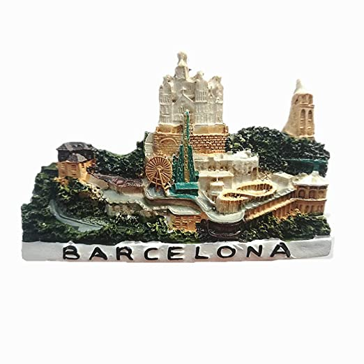 MUYU Magnet Imán para Nevera Barcelona España Souvenir 3D, hogar y ...
