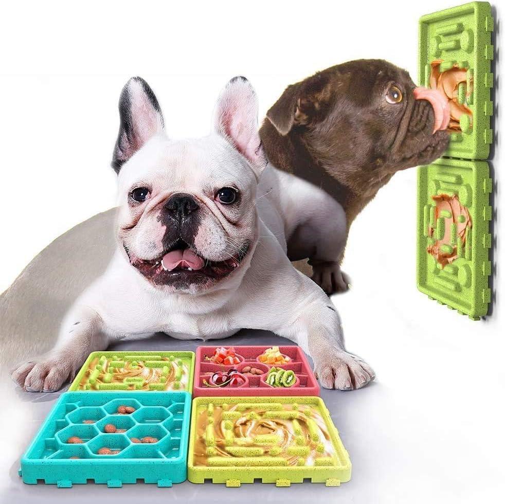Bandeja de juguete para cuenco para perros con alimentador lento alimentador de juegos de entrenamiento para perros con antideslizante para cachorros