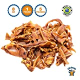 123 Treats - Pigs Ears Strips Dog Chews (1 Pound) 100% Natural Pigs Ear Slivers