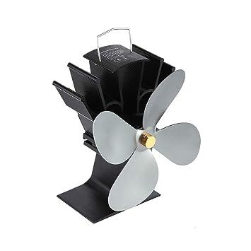 Tellaboull for Ventilador térmico de la Chimenea de alimentación eléctrica Ventilador térmico de la Estufa de