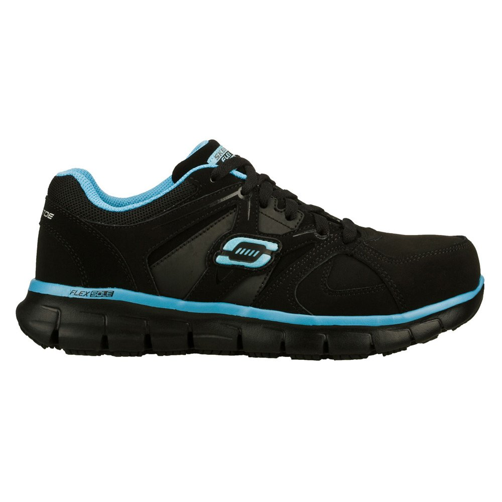 Skechers for Work Women's Synergy Sandlot Alloy Toe 7 Lace-up Work Shoe B00MTZ5Z22 7 Toe D US|Black/Blue 934cf9