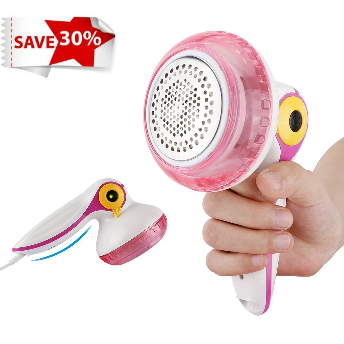 Levapelucchi Elettrico Lint Remover, USB Ricaricabile Tessuto Fluff Remover Shaver per Moquette Abbigliamento Maglione Divano Scheam