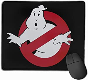 The Real Ghostbusters Mouse Pad Customized Gaming Mousepads for Laptop and Computer Desk Accessories Non-Slip Stitched Edges Waterproof
