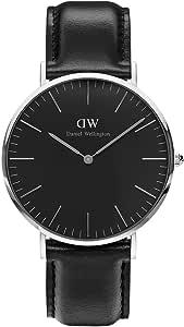 Classic Black Sheffield Watch Silver