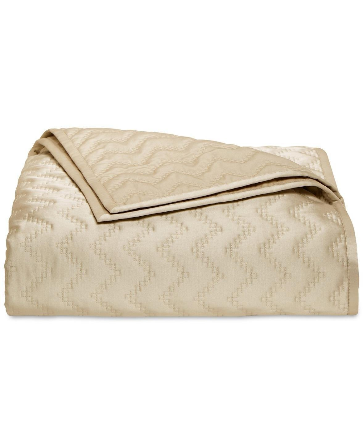Hotel Collection Distressed Chevron QUEEN Quilted Coverlet