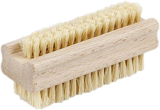 2 x Handbürste Nagelbürste Handwaschbürste Borsten Fibre Natur Holz