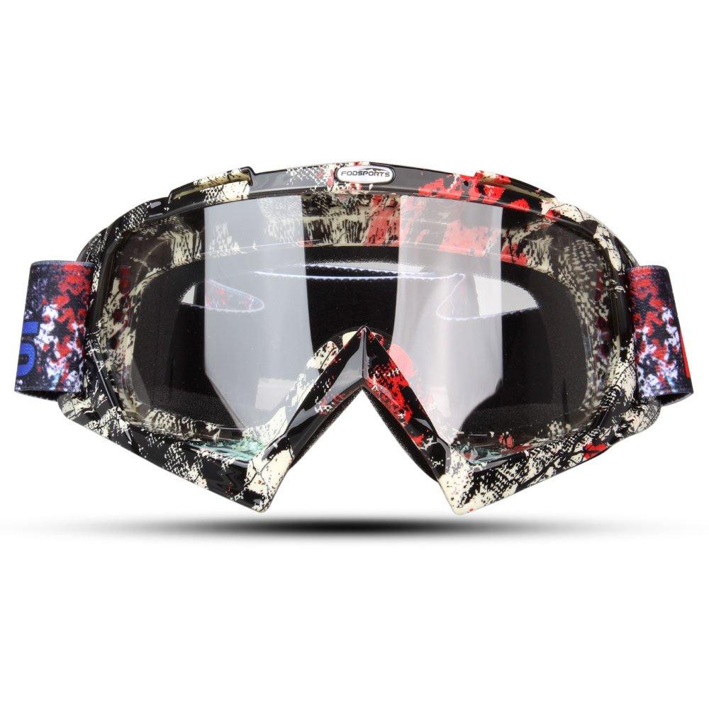 Existosas gafas para moctocross. Total protección contra rayos UVA.