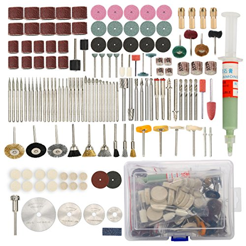 8milelake Rotary Tool Accessory Set 196pc Fits Dremel Gri...