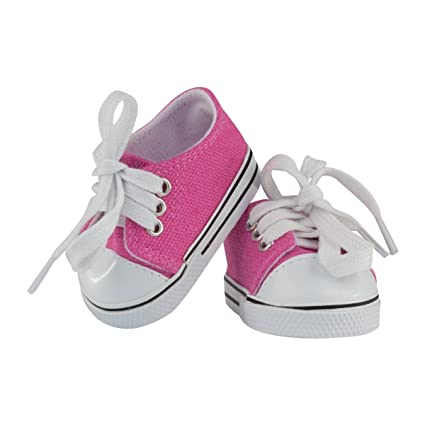 Sneakers White For American Girl or 18 in Dolls Accessories Clothes