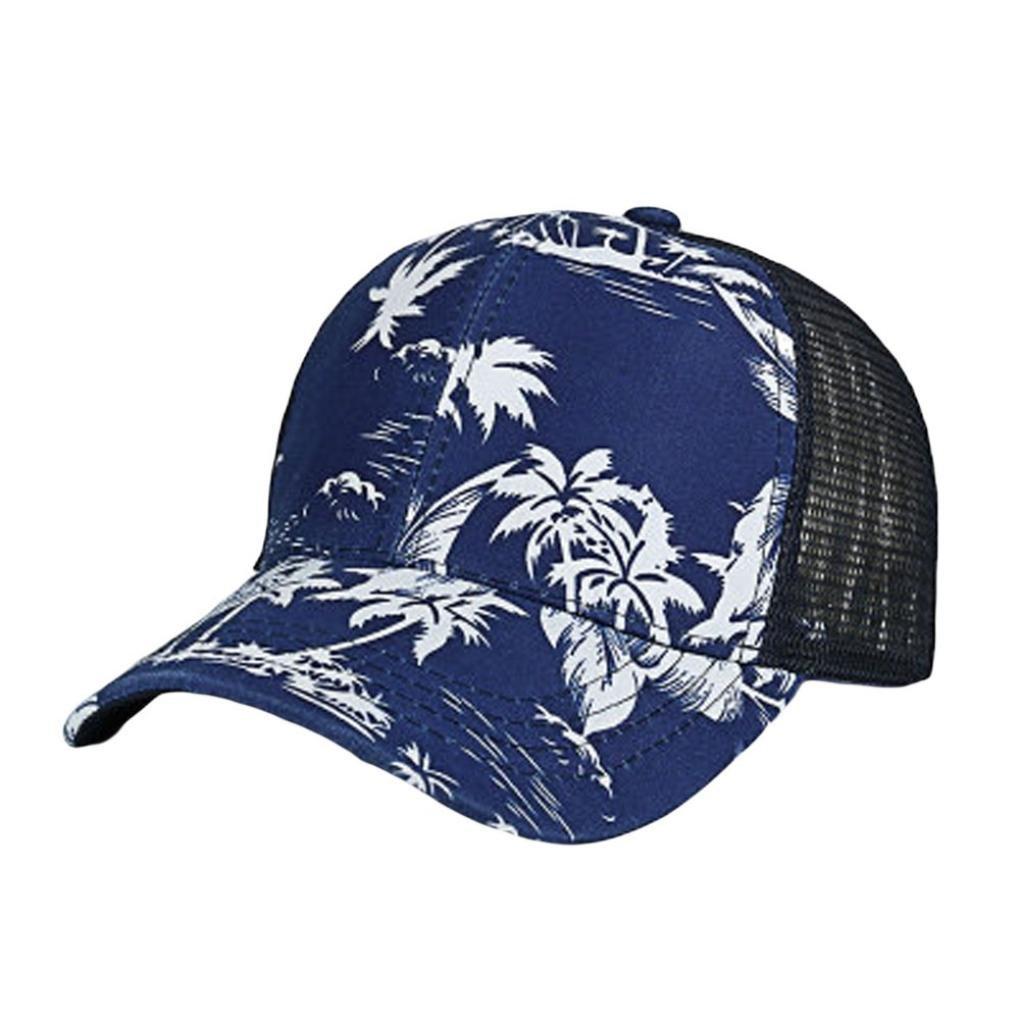 LMMVP Gorra de Béisbol para Hombre Mujer,Moda Mujer Hombres Ajustable Flor Colorido Impresión Sombrero de Malla de Béisbol Gorra Pantalla (A): Amazon.es: ...