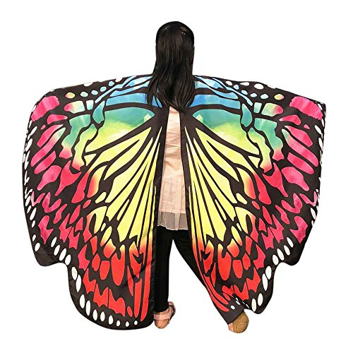 QueenMMWomen Butterfly Wings Shawl, Wintialy Scarves Ladies Nymph Pixie Poncho Costume]()